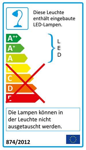 LED Lampe Etikett