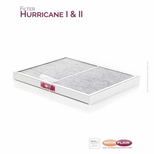 Nova Flair Aktivkohle-Kombi-Lamellenfilter Hurricane Staubabsaugungen