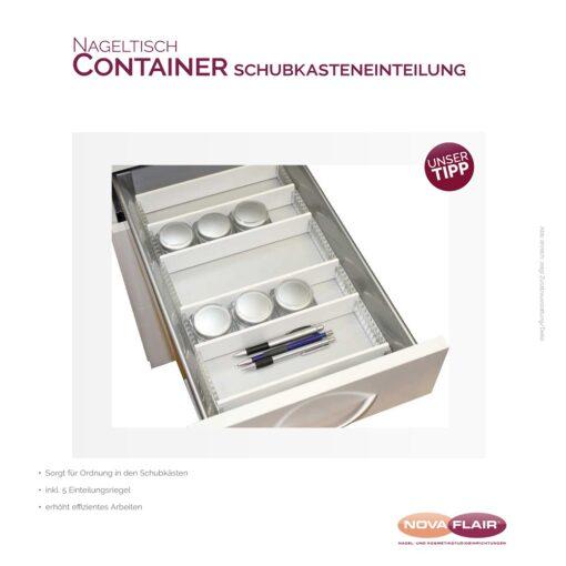 Nova Flair Nageltisch Container Schubkasteneinteilung