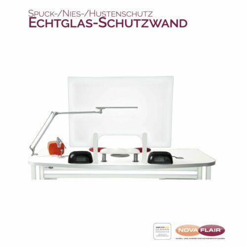 Nova Flair ESG-Echtglas-Spuckschutz Nagelstudio Hygiene-Schutzwand